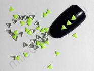 Фигурки металлические - треугольники (3 мм) цвет: салатовый.