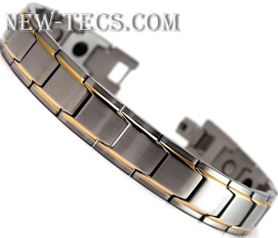Биомагнитный браслет из стали