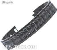 Черный магнитный браслет