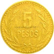 Колумбия 5 песо 1991 г.
