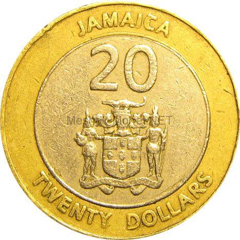 Ямайка 20 долларов 2008 г.