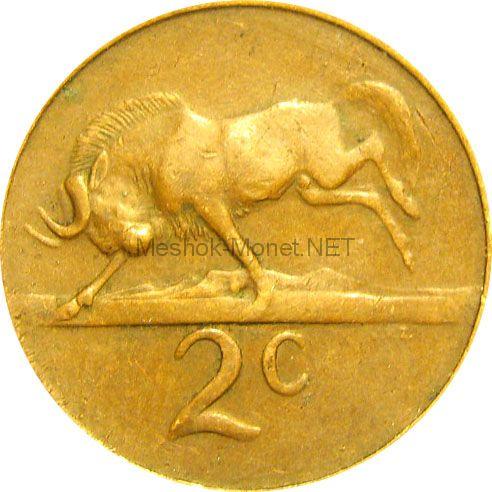 ЮАР 2 цента 1965 г.