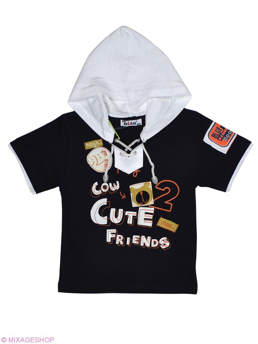 Трикотажная футболка с капюшоном украшена шнуровкой
