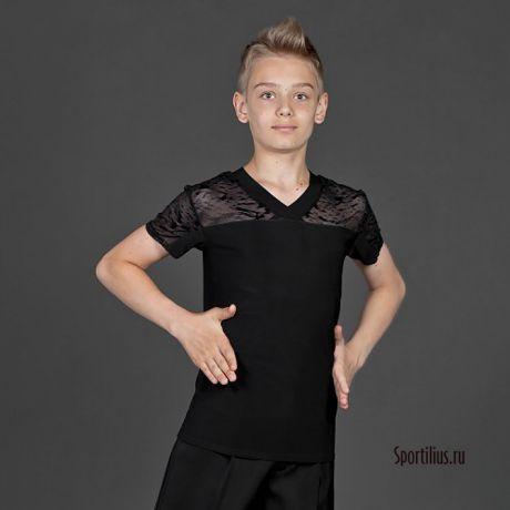танцевальная футболка с гипюром
