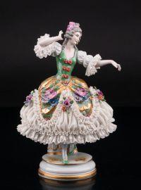 Танцовщица в зеленом платье, Muller & Co, Volkstedt, Германия, нач. 20 в., артикул 01651