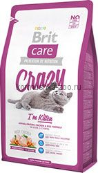 Brit Care Cat Crazy I´m Kitten для котят курица/рис