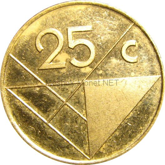 Аруба 25 центов 1992 г.