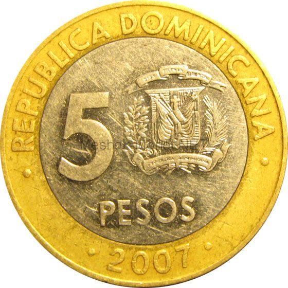 Доминиканская республика 5 песо 2008 г.