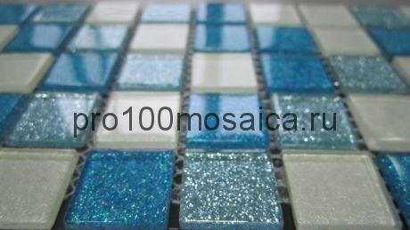 Shine Blue  Мозаика серия CRYSTAL,  размер, мм: 300*300