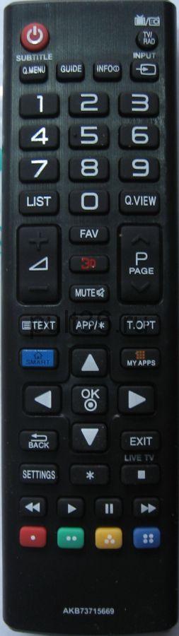 Пульт ДУ LG AKB 73715669 3D Smart Tv ( маленький корпус)