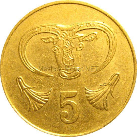Кипр 5 центов 1987 г.