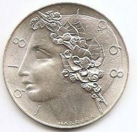 50 лет Чехословакии(20 лет народной республике) 50 крон Чехословакия 1968