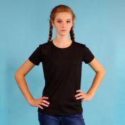 черная футболка для девочек