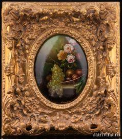 Цветы и фрукты, натюрморт, Германия, кон. 19, нач. 20 в