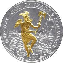 10 долларов 2008 года (серебро) , Острова Кука, Меркурий