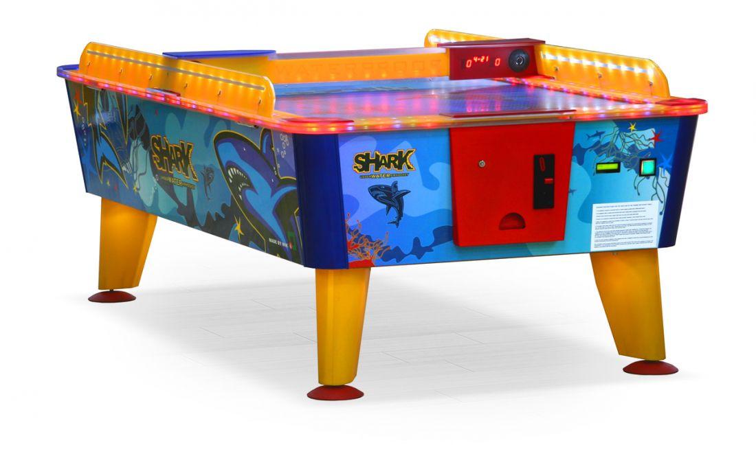 Игровой стол Аэрохоккей «Shark» 8 ф (всепогодный, жетоноприемник) 57.002.08.0