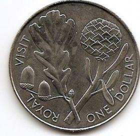 Королевский визит 1 доллар Новая Зеландия 1981