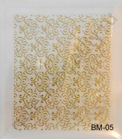 Наклейки 3D BM-05 (золото)