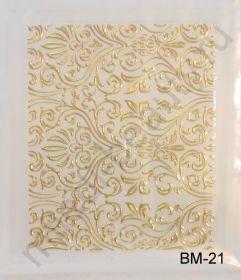 Наклейки 3D BM-21 (золото)