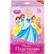 """Пластилин """"Принцессы. Disney"""", 16 цветов с европодвесом (арт. Плд-004)"""