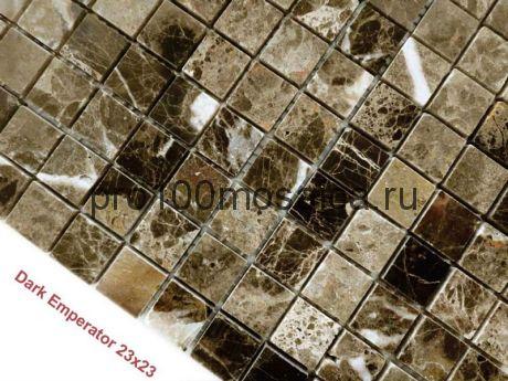 Emperador Dark 23 x 23 POL Мозаика серия Pietrine Stone, размер, мм: 298*298*4 (Caramelle)