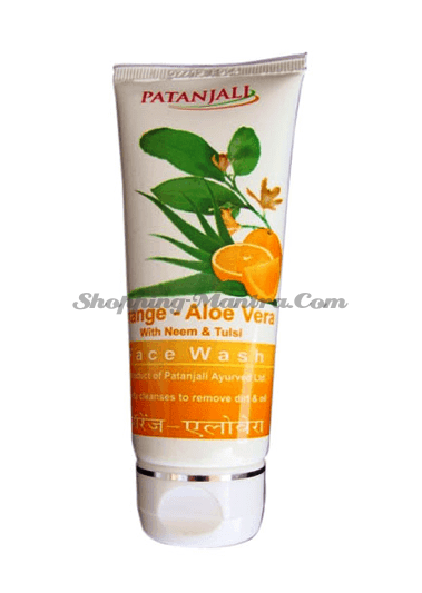 Гель для умывания Алое Апельсин Патанджали Аюрведа /Divya Patanjali Aloe Orange Facewash
