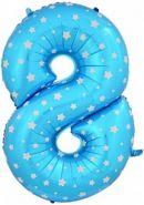 """Фигура """"8""""  (102 см), голубой"""