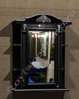 """Зеркало-шкаф для ванных комнат """"Руссильон PROVENCE-75 черное дерево"""" (левое открывание)"""