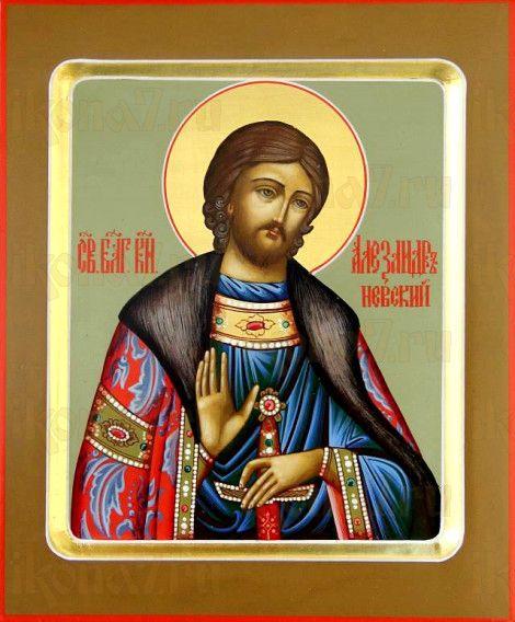 Александр Невский (рукописная икона)