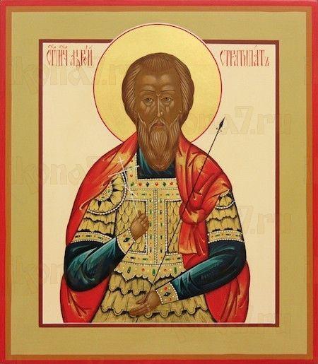 Андрей Стратилат (рукописная икона)