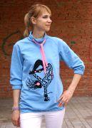голубой пуловер Fiesta