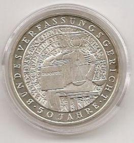 50 лет конституции ФРГ 10 марок ФРГ 2001