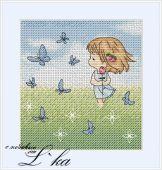 Схема для вышивки крестом Нежные иллюстрации - Розочка