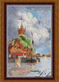 Схема для вышивки крестом Голландская гавань