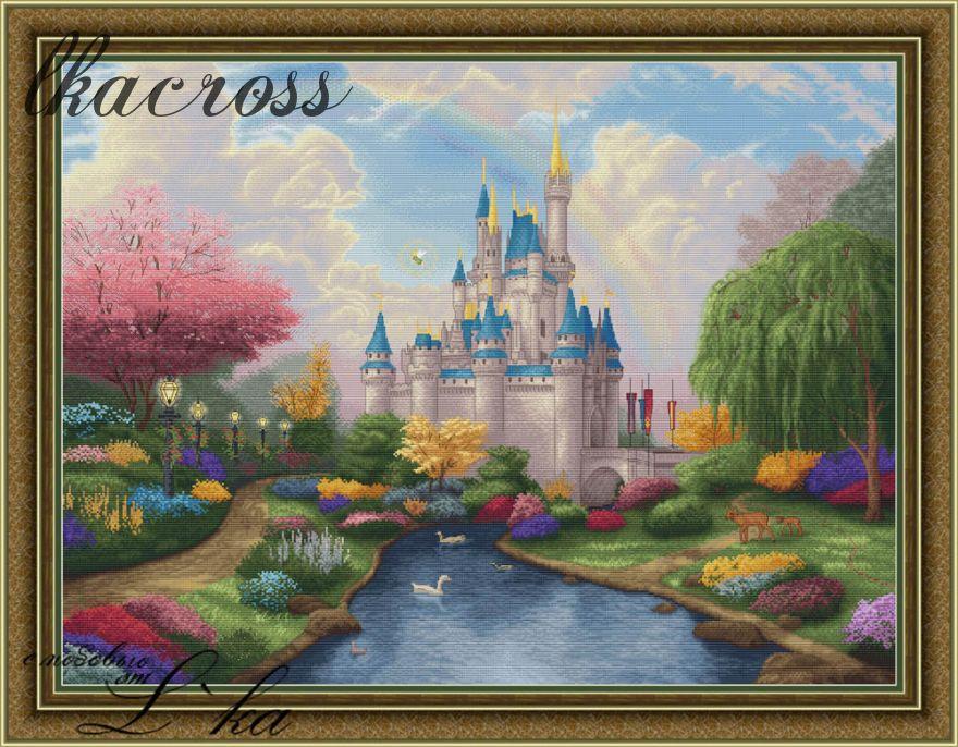 """""""Сказочный замок"""". Схема для вышивания крестиком."""