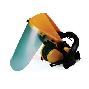 Маска защитная (плекс) с наушниками