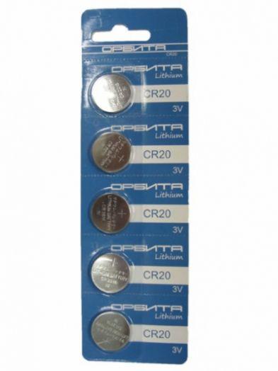 Батарейка литиевый элемент питания (диск) Орбита 2032 BR-5 (5/100)