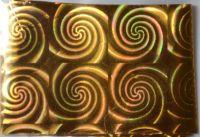 Фольга для дизайна ногтей, литья (переводная). Цвет: золото круги (Размер: 4см на 1 метр)
