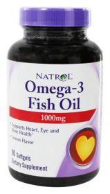 Natrol Omega-3 Fish Oil 1000 mg (90, 150 капс.) Лимон