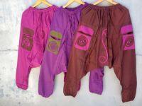Коричневые штаны зуавы из хлопка (мужские, женские)