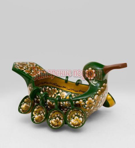 Ковш-утка с навесн. ковшами 9 пр (Хохлома)