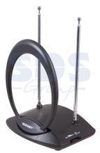 Комнатная антенна REXANT RX-723 VHF, UHF, FM, 40-862 MHz с усилителем 38dB