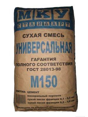 Сухая смесь универсальная М-150 МКУ, 40 кг