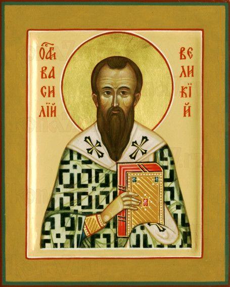 Василий Великий (рукописная икона)