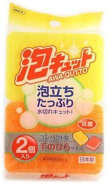 3-слойная губка с отверстиями Ohe Corporation Awa Qutto Soft Sponge.