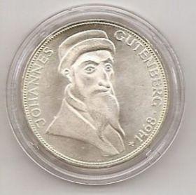 500 лет со дня смерти Иоганна Гутенберга 5 марок Германия 1968 G