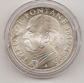 150 лет со дня смерти Теодора Фонтане 5 марок Германия 1969 G