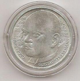100 лет со дня Рождения Густава Штреземанна 5 марок Германия 1978 D