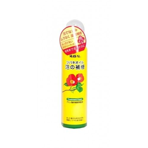 Японская пенка для восстановления поврежденных волос с маслом камелии Kurobara Tsubaki Oil Чистое масло камелии