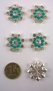 Кабошон, металл, цвет основы - серебро, 25 мм. 1уп = 10шт, Арт. КБС0009